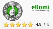 ¡Galardonado con el sello standard eKomi!